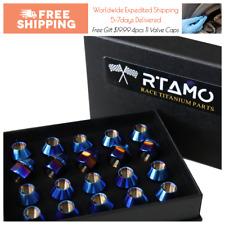 RTAMO | M12x1.5Px21L Titanium Gr5 Blue Color BMW M3 Aftermarket Wheel Lug Nut