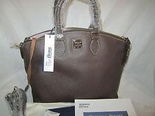 100% Auth NEW Dooney & Bourke Pebble Grain Leather Satchel Handbag W/Strap Black