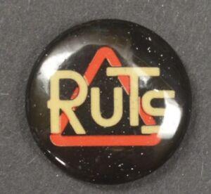 VINTAGE RUTS Promotional button pin   PUNK new wave  Ska ORIGINAL 1979