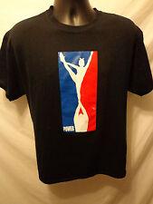 Cheer Spirit Wear Power T -Shirt Adult Sz L Cotton Blend Black Short Sleeve
