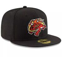 Florida Fire Frogs Baseball MLB New Era 59FIFTY OSFA Black Color NEW Fast Ship