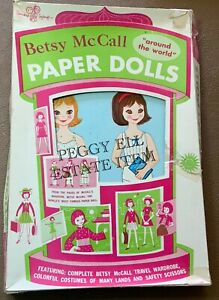 "1960'S STANDARD TOYCRAFT CO. ""BETSY McCALL AROUND THE WORLD PAPER DOLLS"" #701"