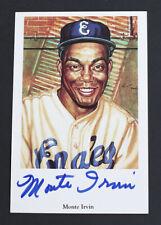 Liga de Béisbol Negro Auténtico Firmado Postal Monte Irvin Edición Limitada