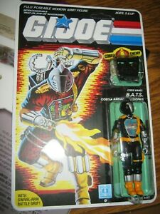 G.I.Joe 1984 Cobra BATS Android Trooper complete Carded Hasbro ARAH Grey 36 Back