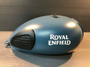 Genuine Royal Enfield Motorcycle OEM Gas Tank Squadron Blue Classic C5