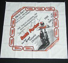 NOS Vtg 80s Harley Davidson Scott Parker Bandana Handkerchief DoRag Biker SIGNED