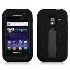 Samsung Galaxy Admire 4G Impact Hard Rubber Case Phone Cover Kick Stand Black