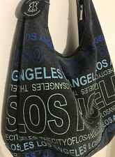 Robin Ruth The City of Los Angeles Large Canvas Shoulder Bag Hobo Purse