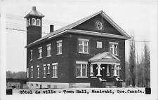 MANIWAKI, QUEBEC, CANADA ~ HOTEL DE VILLE - TOWN HALL ~  REAL PHOTO PC ~ u. 1951