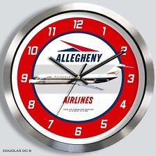 ALLEGHENY AIRLINES DOUGLAS DC-9 WALL CLOCK 1960's 70's