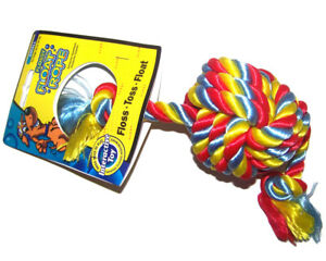 Mammoth Flossy Float Rope Tug with Monkey Fist Ball 32cm