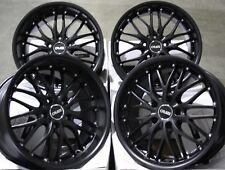 "ALLOY WHEELS X 4 18"" SATIN BLACK CRUIZE 190 FOR NISSAN 350Z + TYRES"