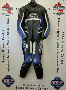 Arlen Ness 3257 One Piece Motorcycle Road Race Leathers UK 42 Chest EU 52 Blue