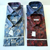 475 MENS DOUBLE COLLAR SHORT SUMMER SLEEVES PARTY CASUAL DRESS SHIRT NOW £17.99
