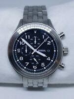 "Fossil Chronograph JR1431 Mens Wristwatch ""New Battery"""