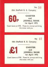 Coach Trip Tickets ~ 18th Sheffield Boys Brigade - Chester & Jodrell Bank - 1972