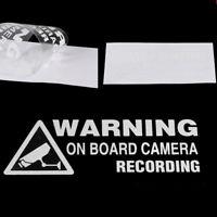 Warning On Board Camera Recording Car Window Truck Auto Vinyl Sticker Decor Gift