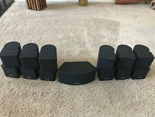 7 Bose Jewel Cube Speakers including Horizontal Center Speaker BLK For 7.1 & 7.2