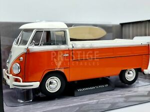 Solido 1950 Volkswagen VW T1 Pickup with Surfboard Orange 1:18 Scale - New
