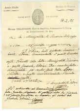 Armee d'Italie 1801 BRA nach Bosco Militärbrief Samariva Briefkopf