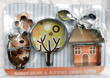 Bobby Bear & Buddies Cookie Cutter / Biscuit Cutters - Stainless Steel - BNIB