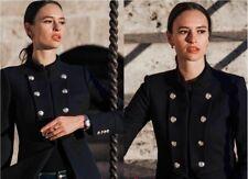 Zara Azul Marino Militar Frock Chaqueta Abrigo Con Botones De Oro Talla Mediana bloggers