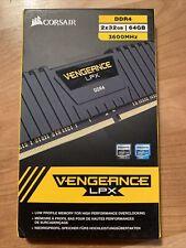 Corsair VENGEANCE LPX 64GB 2x32G DDR4 3600MHz C18 MEMORY RAM CMK64GX4M2D3600C18