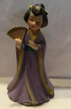 J S N Y Taiwan Bisque Porcelain Geisha Dinner Table Bell Hand Painted Porcelain*