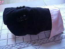 Dog Clothes Tuxedo Size 10 Black and Pink Collar Doggy Club Wear by Ruffn It USA