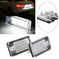 2x LED Licence Plate Light Lamp White For Audi A3 A4 B6 B7 A6 A8 Q7 S4 etc