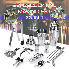 23 Pieces Stainless Steel Cocktail Shaker Maker Mixer Bar Tool Set