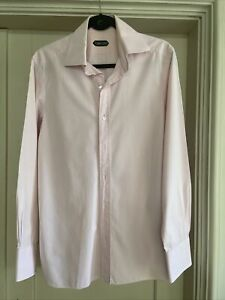 Tom Ford Mens Shirt Large Pink Neck 41cm, Good Condition