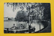 Tschechien CZ AK Franzensbad 1910-20er Františkovy Lázně Stadtteich Ruderboot ++