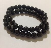 8 mm Shungite Bracelet Elite Shungite Bead Bracelet Stretchy Radiation Karelia.