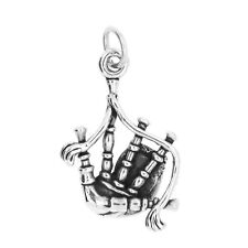 STERLING SILVER BAGPIPES CHARM OR PENDANT