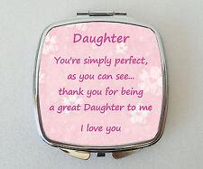 DAUGHTER Compact Mirror Fun Handbag Travel Beauty Cosmetic Makeup Novelty Gift