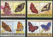 St. Vincent/Grenadinen - Union Island 94 - 101 postfrisch, Schmetterlinge