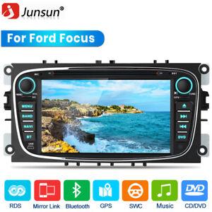 "7"" Car Stereo Black GPS Sat Nav DVD BT SWC For Ford Focus Mondeo S-Max Radio DAB"