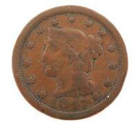 .1847 USA 1 CENT. REASONABLE GRADE.