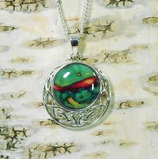 """Heather """" Celtic Disc """" Pendant Handmade & Silver Plated Necklace  HG-7A"""