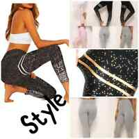 Yoga Pants Leggings Running Gym Sports Tummy Control High Waist Fitness Ladies