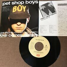 """PET SHOP BOYS Love Comes Quickly JAPAN 7"""" SINGLE EMS-17661 w/PS+INSERT '86 issue"""
