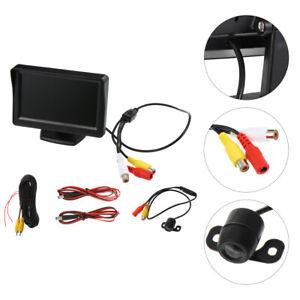 4.3'' Car Monitor +Mini Night vision Reverse Camera Backup Rear View Parking Kit