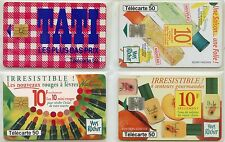 CARTE TELEPHONIQUE / LOT DE 4 CARTES DIFFERENTES  / EN L'ETAT