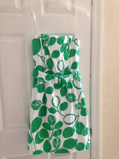 B. Smart Strapless White/Green Leaf Print ladies Summer Beach Dress  size  3/4.