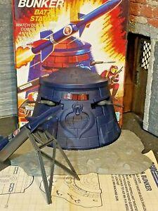 GI JOE~ 1985 COBRA BATTLE BUNKER  ~ 100% COMPLETE with GREAT BOX & BPs