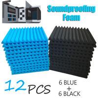 """12Pcs Acoustic Soundproofing Sound-Absorbing Foam Fire Retardant Tile 12x12x1"""""""