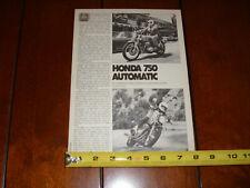 1976 HONDA CB750 AUTOMATIC ORIGINAL ARTICLE
