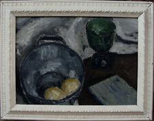 Stillleben mit grünem Glas, unbekannter Maler, um 1950
