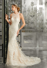 Mori Lee 8173 Size 12 GENUINE Wedding Dress Ivory with tags
